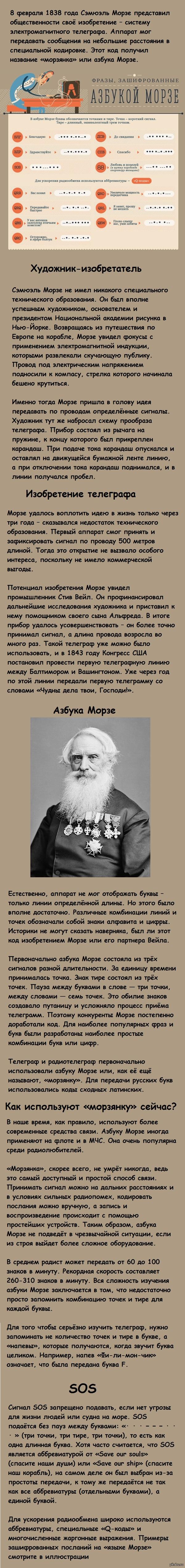 Что такое азбука Морзе и для чего она нужна?