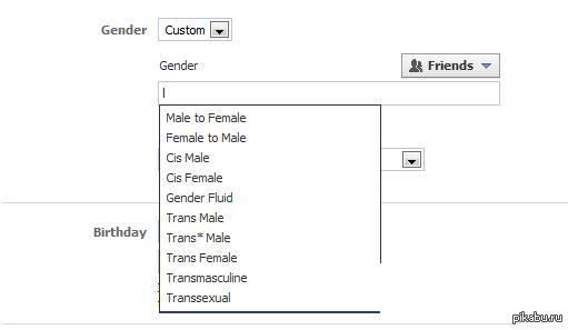 В Facebook теперь есть более чем два пола. Самоопределяйся как твоей душе угодно!