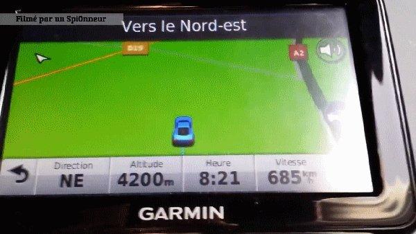 Что видно из машины на скорости 685 км/ч