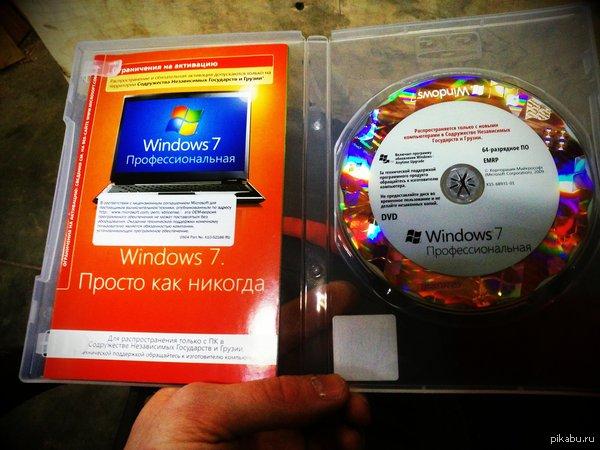 Так выглядит лицензионный диск Win7x64 Теперь ты видел больше! ;-))