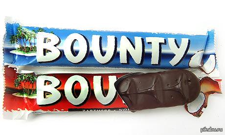 Красный Bounty. Про него все забыли, даже я. Кто-нибудь напомнит, какой у него вкус и чем он от обычного отличается?