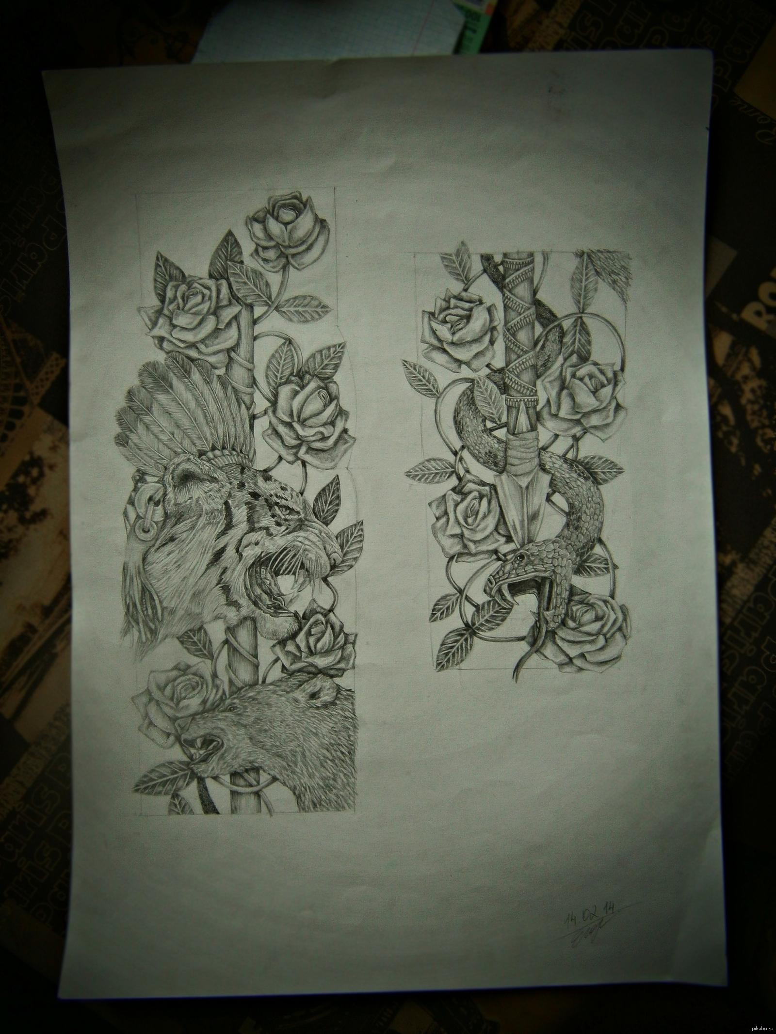 Татуировки рукава 143 фото тату и эскизы Мужские 62