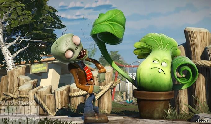 Plants vs Zombies рус Растения против Зомби двухмерная компьютерная игра в жанре Tower Defense