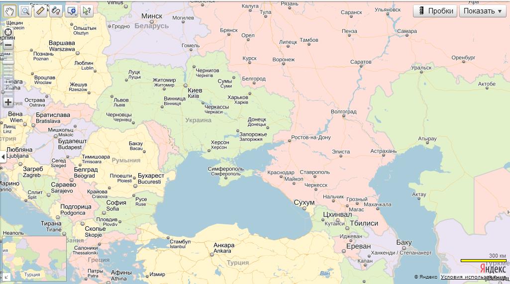 граница украины и россии на карте подробно